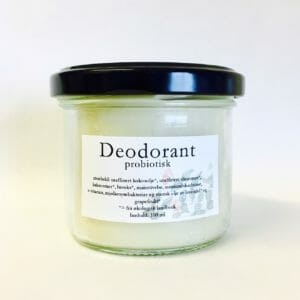 Deodorant i glaskrukke 100 ml